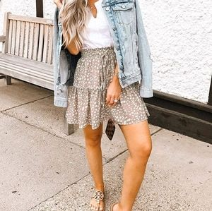 Pink spotted skirt